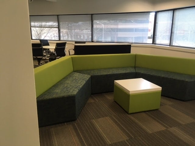 lounge area, office furniture, Boston, MA