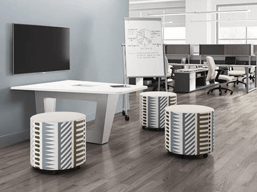 Office Cubicle Workstations contemporary office seating open conference mobile ottomans