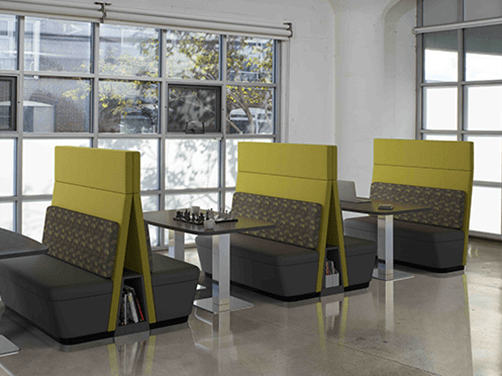 Resimercial cafe, collaboration booths