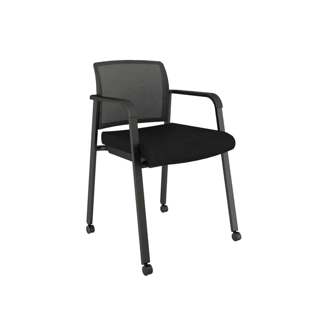 Mesh Back Chair with Fabric Seat