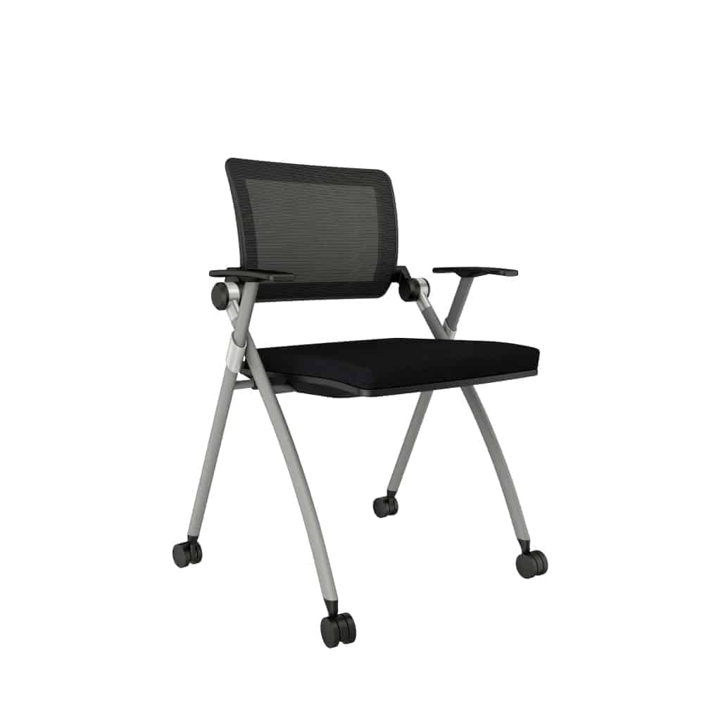 Mesh Back Nesting Training Room Chair
