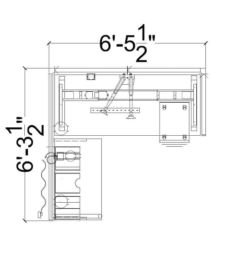 145 – Hybrid Height Adjustable Workstation