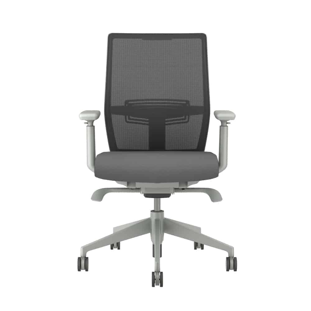 Grey Mesh Back Desk Chair