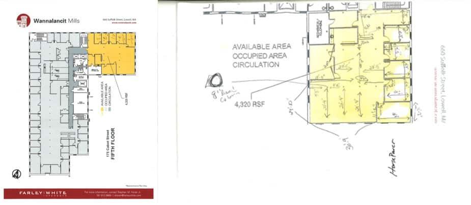 Beginning the office floor plan design process
