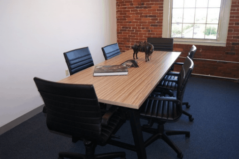 Office conference room design and furniture for Massachusetts-based startup, Horsepower Technologies Inc.