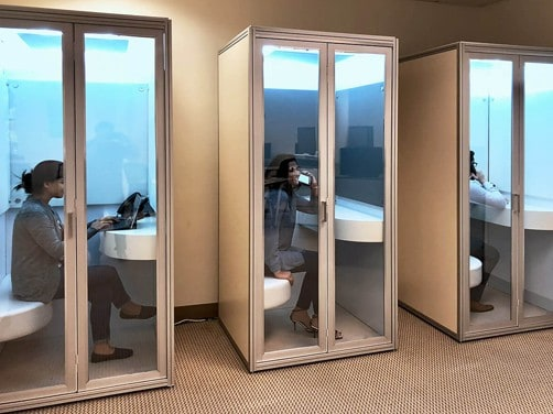 Resimercial phone booths, private meeting room, acoustic privacy and huddle room