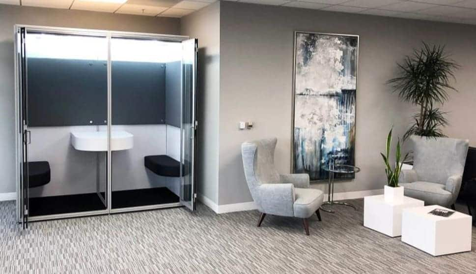 Glass Cubicle Reception Area Acoustic Office Phone Booths