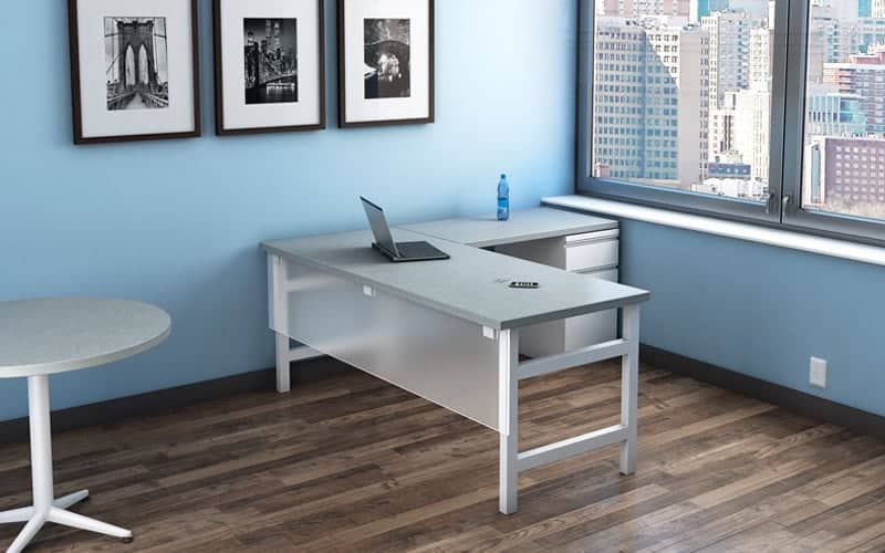 Static L-shaped Office Desk