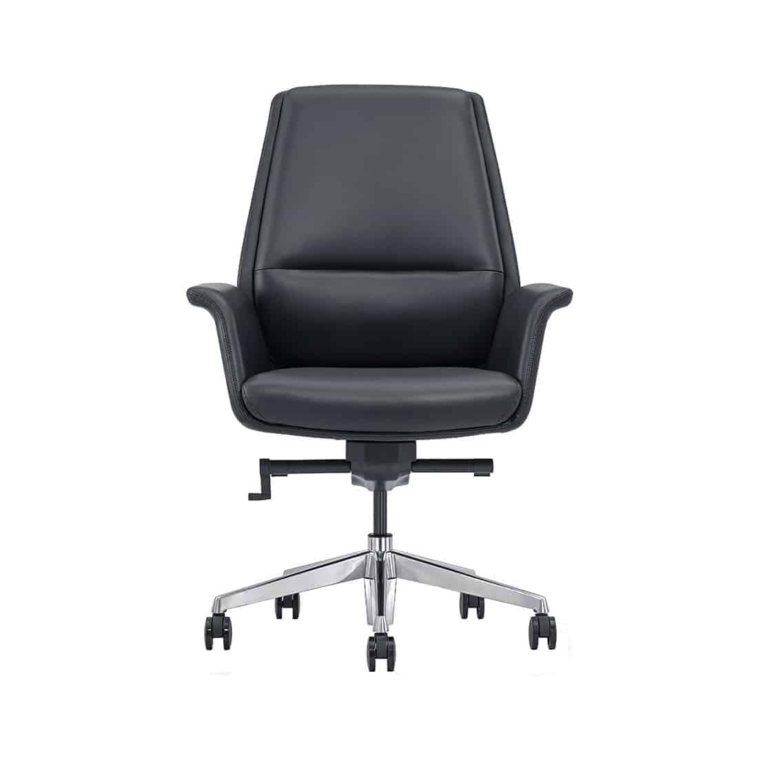 Mid Back Leather Conference Room Chair