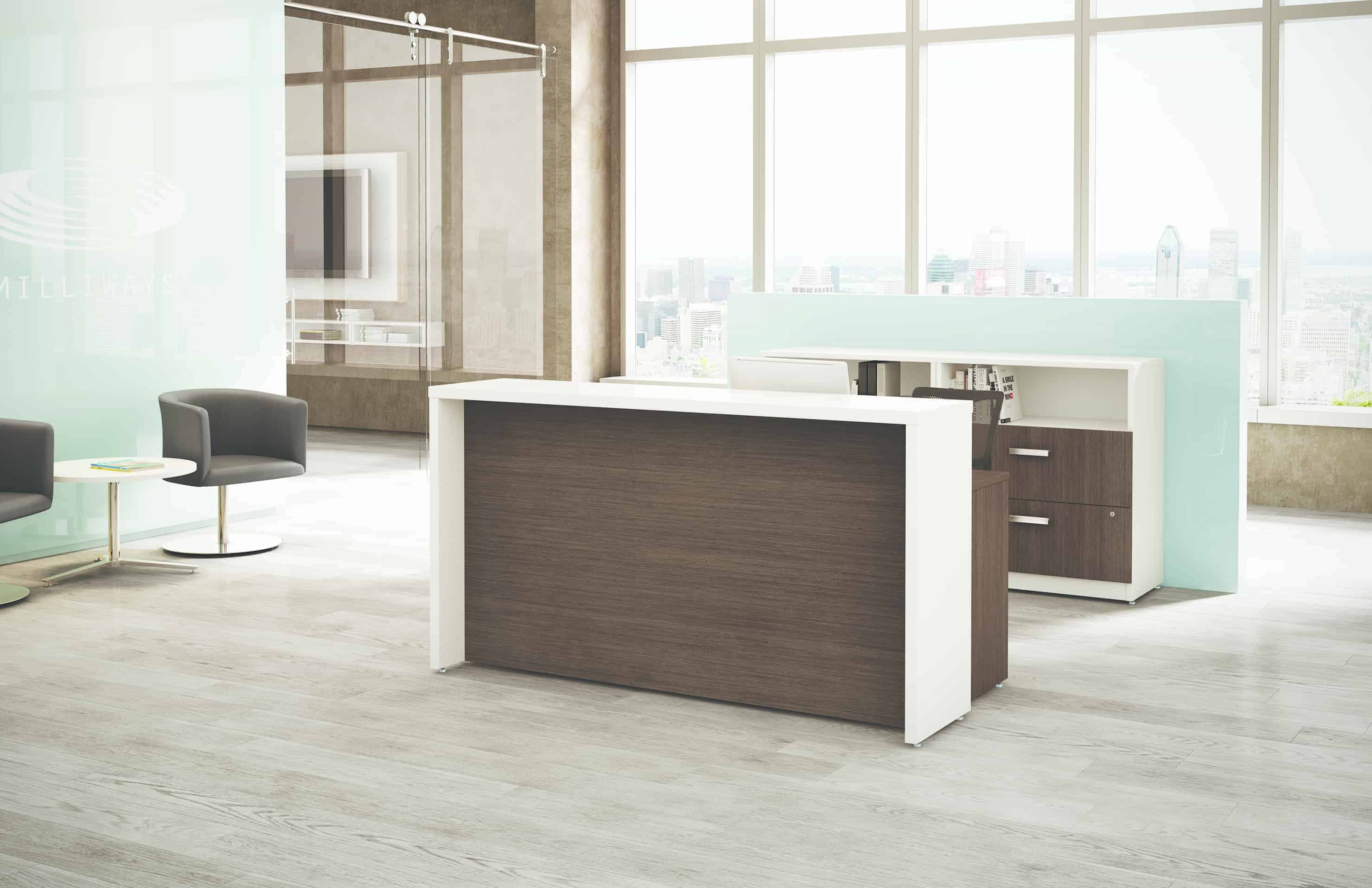 Logiflex M-brace Office Reception Desk