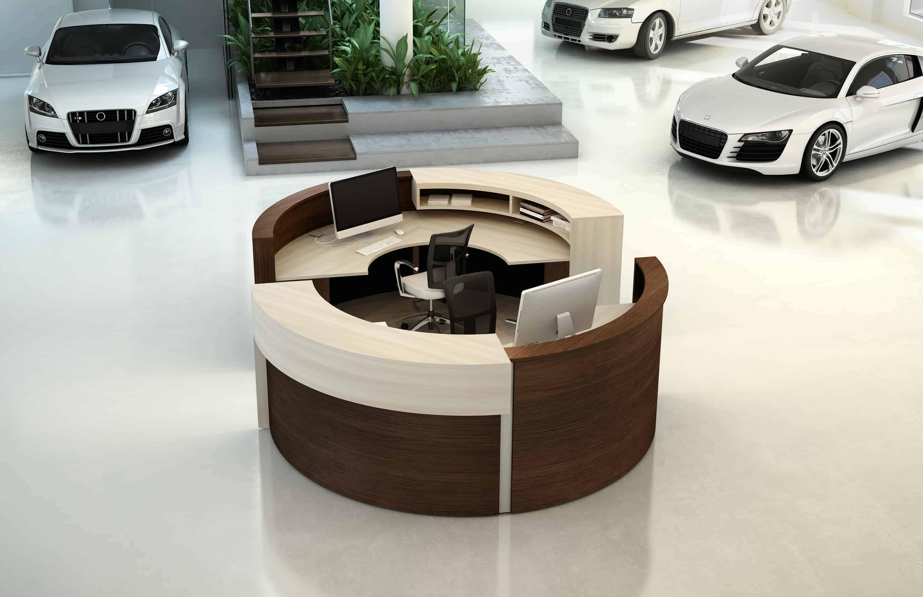 Logiflex Spheric Double Reception Desk Station