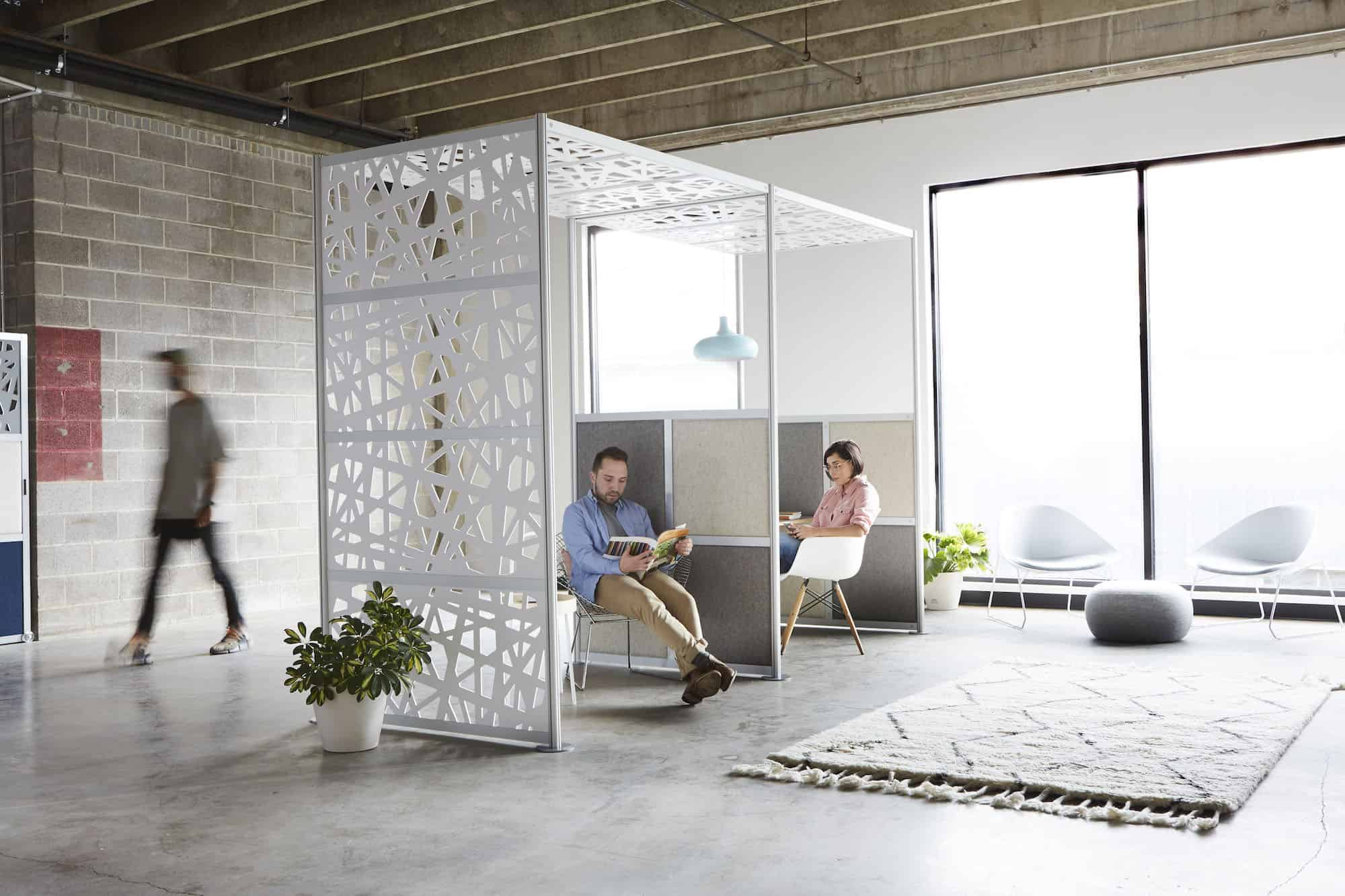 Resimercial acoustic room dividers to create private office
