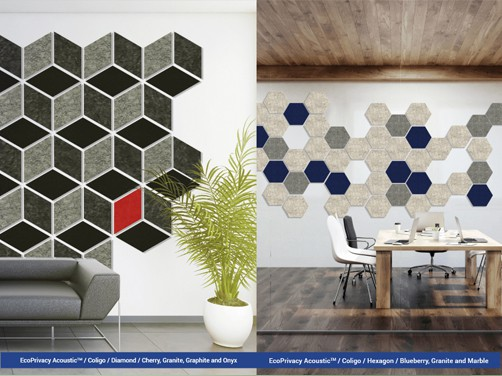 Resimercial acoustical wall decor and architectural walls