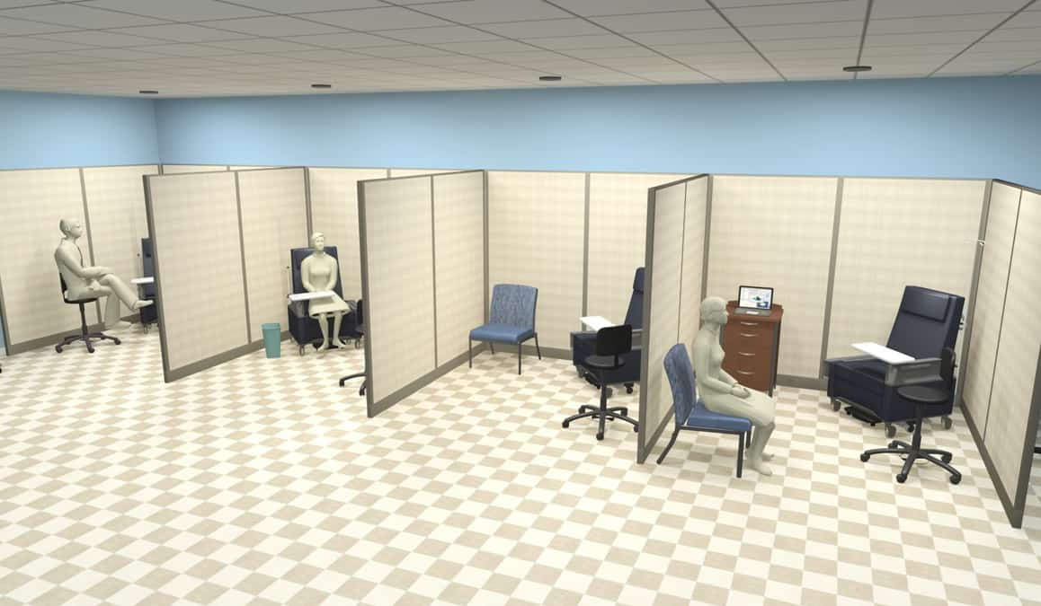 laminate exam room