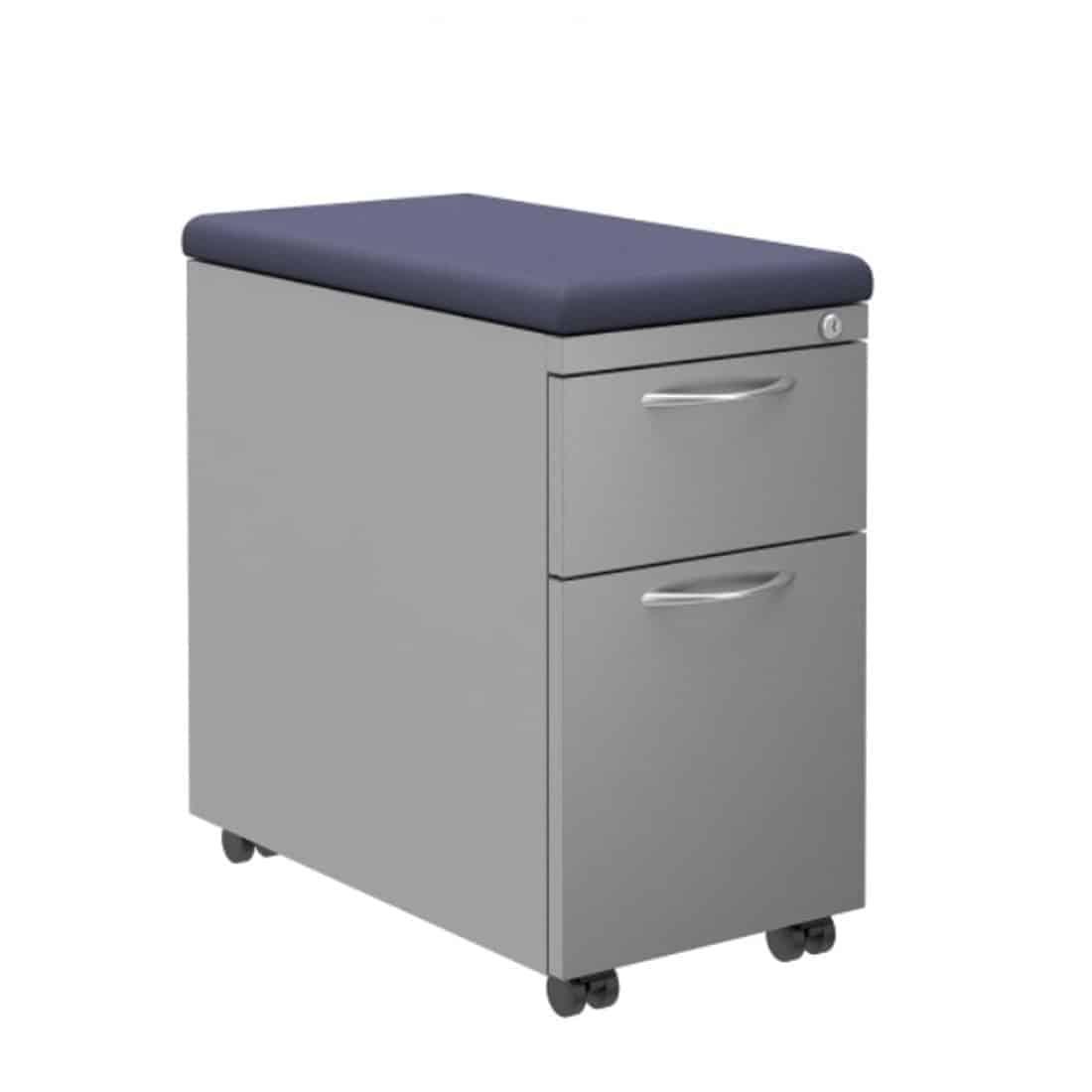 Padded mobile storage pedestal Under-worksurface File/File pedestal