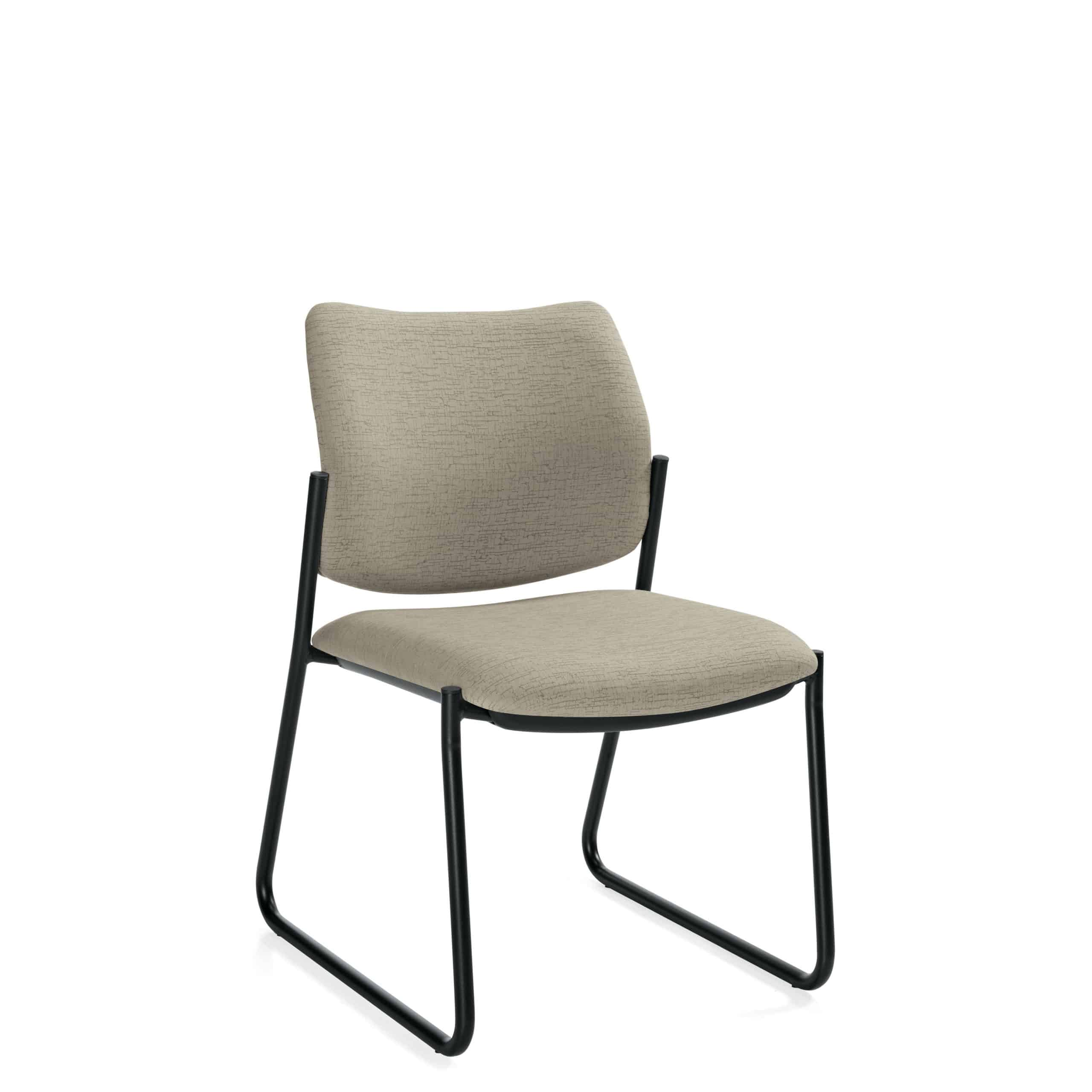 vinyl armless reception chair