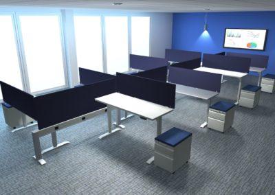 8 person workstation