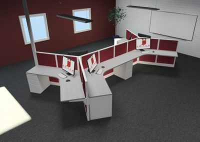 6 Person Dogbone Workstations