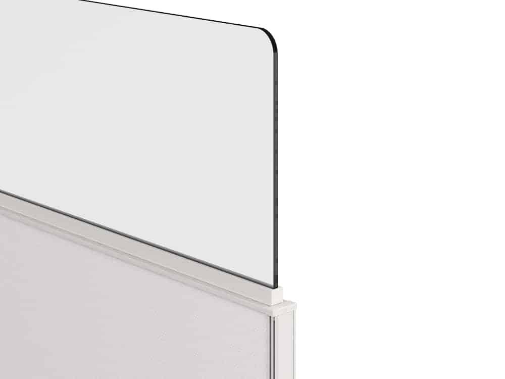 Glass Desk Divider