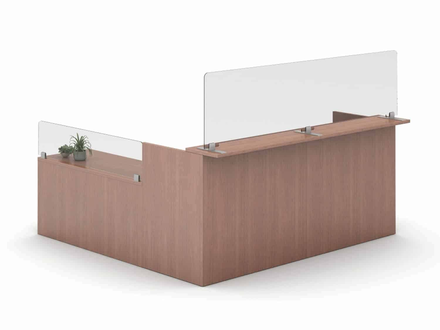 Polycarbonate Reception Desk Divider
