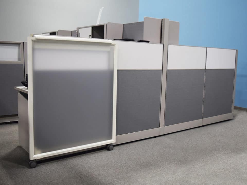 Sliding door to add to a cubicle, COVID-19