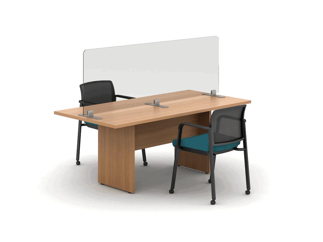 freestanding desk divider for desk or table