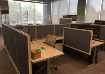 Existing Workstations with 50H Fabric/16 Lexan Screens - After