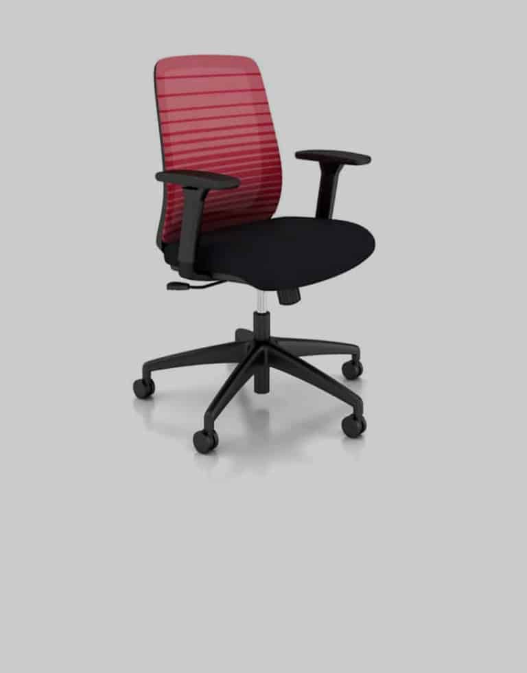 Partsco Bolton Mid Back Red Mesh