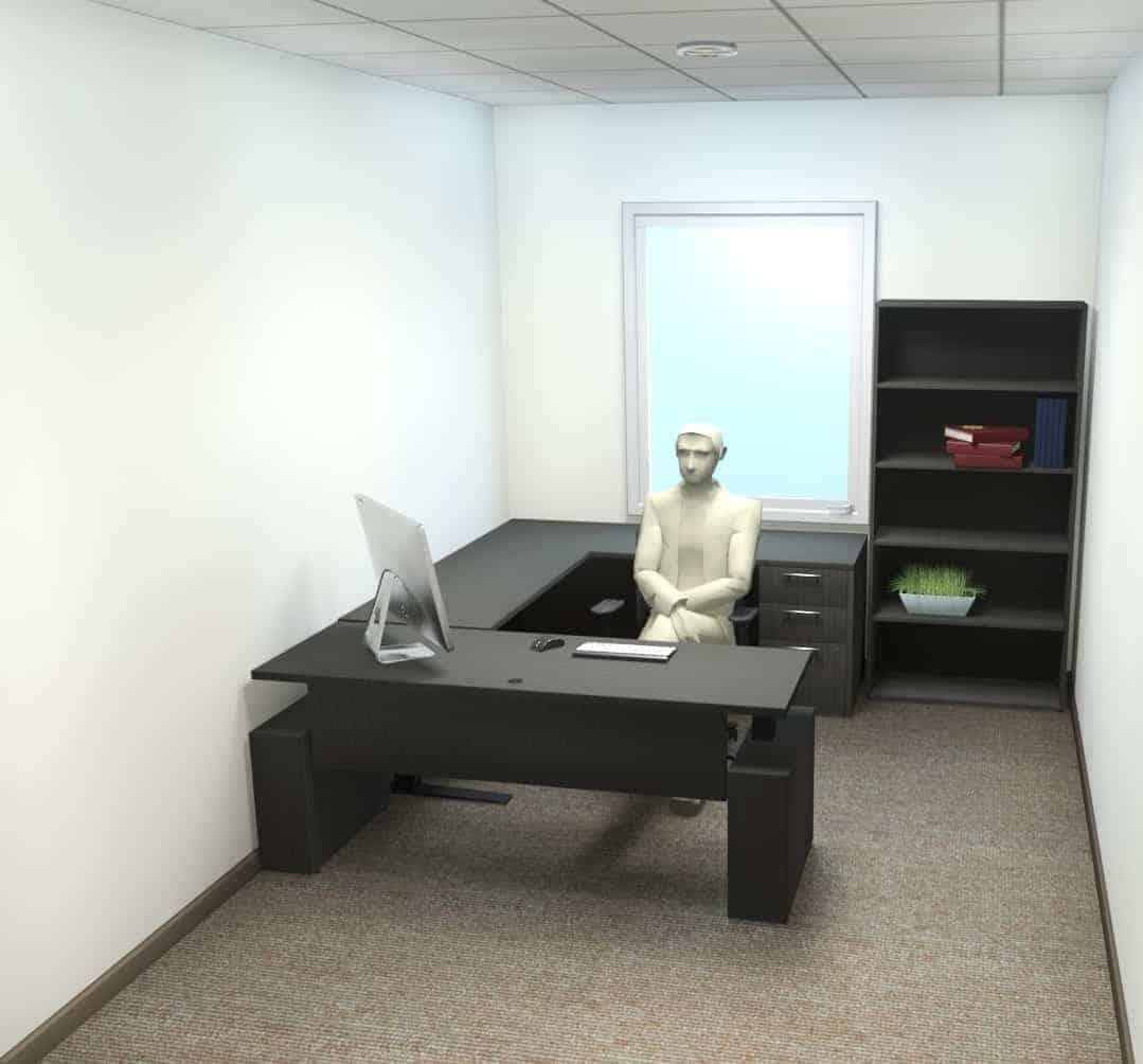 executive height adjustable desk